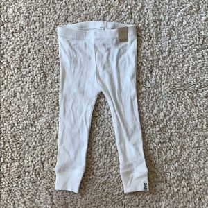 Baby white ribbed legging pants